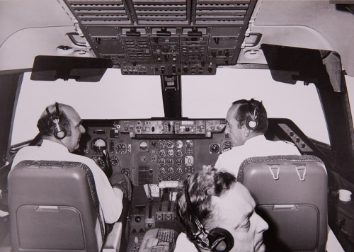 1973 - Lockheed TriStar - L-1011 - cockpit with 3 pilots